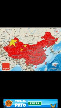 China flag map 스크린샷 2
