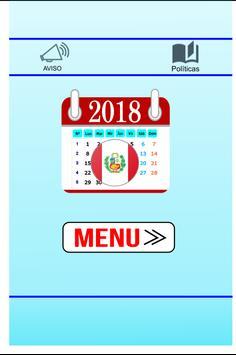 Calendario Perú 2018- Días Festivos poster