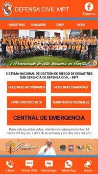 DEFENSA CIVIL TRUJILLO poster