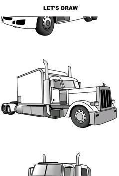 Draw Semi Trucks poster