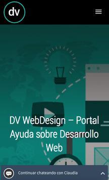 DV Web Design Tips poster
