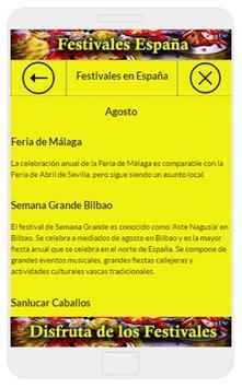 Festivales de España screenshot 1