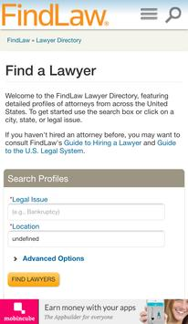 FindLaw - Find your lawyer poster