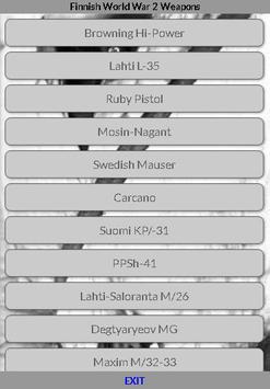 World War 2 Weapons - Finnish screenshot 1