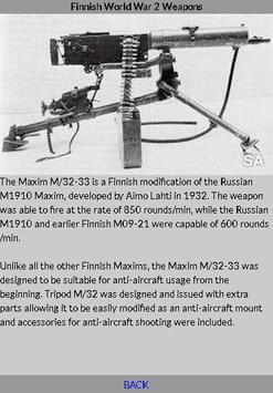 World War 2 Weapons - Finnish apk screenshot