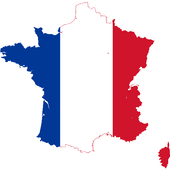 France flag map-icoon