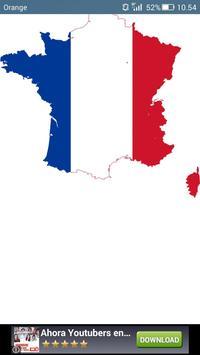 France flag map постер