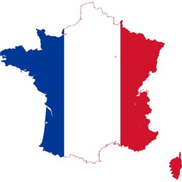 France flag map скриншот 1