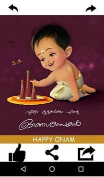 Onam Wishes and Greeting Card poster