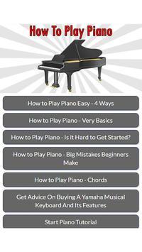 How To Play Piano apk screenshot