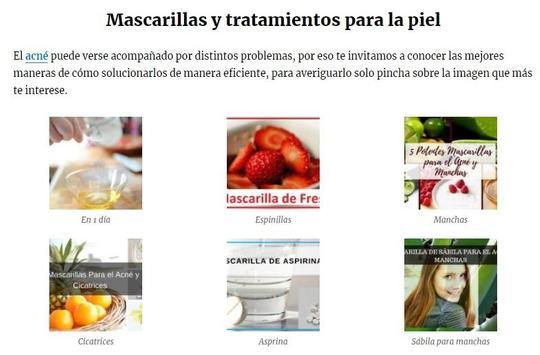 Mascarillas Para el Acné - Naturales y Eficaces poster