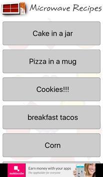 Microwave recipes screenshot 1
