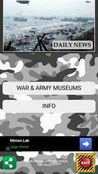 Military museums guide poster