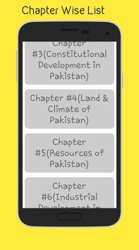 Pakistan Studies (9th) apk screenshot