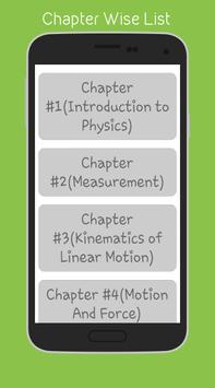 Physics (10th) apk screenshot