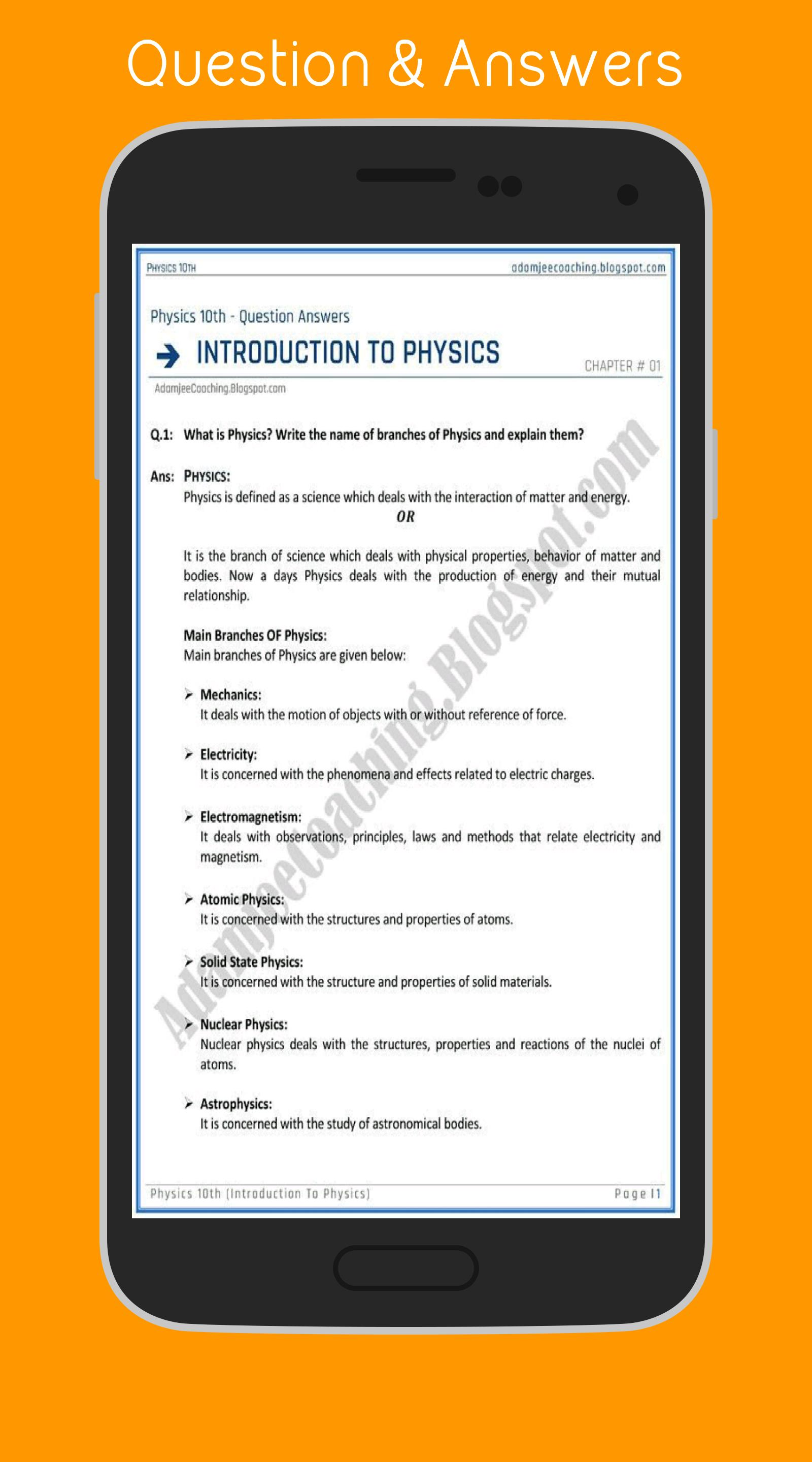 Physics (10th) for Android - APK Download