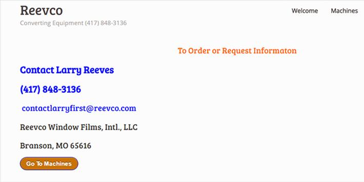 Reevco Window Films Intl. LLC poster
