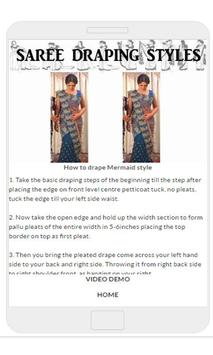 Saree Draping Styles apk screenshot
