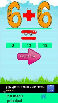 Suma y Resta para niños screenshot 4