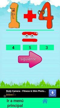 Suma y Resta para niños screenshot 5