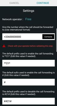 Smart Call Forwarding (schedule - battery - wifi) poster