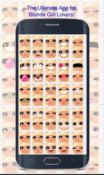 Blonde Girl Emoji poster
