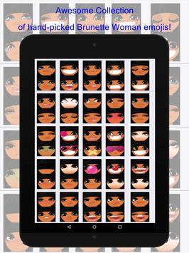 Brunette Woman Emojis screenshot 3