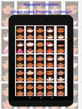 Brownhair Girl Emoji screenshot 3