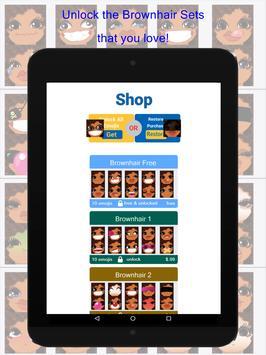 BrownhairMoji screenshot 5