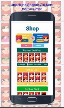 Redhair Girl Emoji apk screenshot