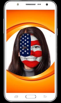 Flag Face Painting: Flag on Profile Picture poster