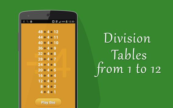 Learn Division Tables (for Kids) screenshot 1