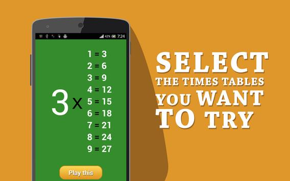 Learn Multiplication Tables (for Kids) apk screenshot