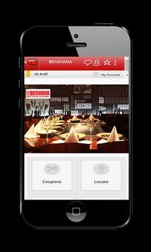 Benihana mLoyal App apk screenshot
