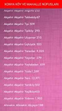 ŞEHİR KÖY VE MAHALLE NÜFUSLARI apk screenshot