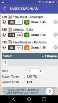 Banko Kuponlar ve Maçlar apk screenshot