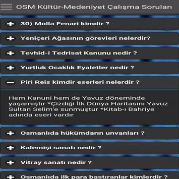 Osmanlı Kültürü KPSS screenshot 2
