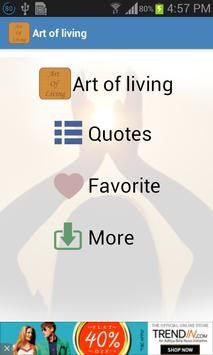 Art of Living Quotes poster