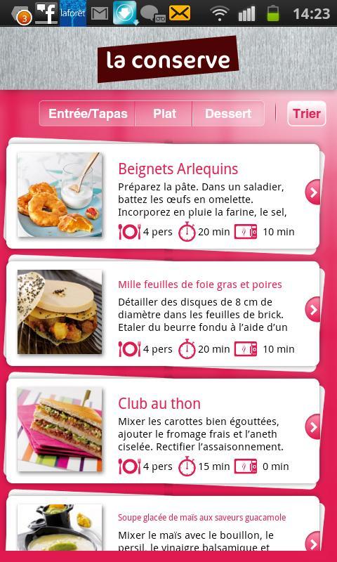 Recettes De Cuisine Laconserve For Android Apk Download