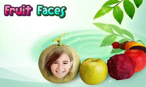 Fruit Faces photo editor poster
