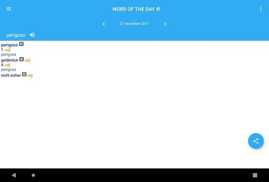 Collins German<>Portuguese Dictionary apk screenshot