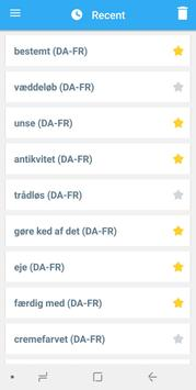 Collins French<>Danish Dictionary apk screenshot