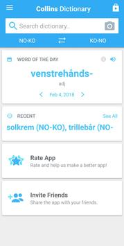 Collins Korean<>Norwegian Dictionary apk screenshot
