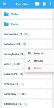 Collins Croatian<>Polish Dictionary apk screenshot