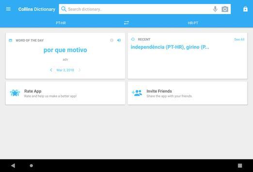 Collins Croatian<>Portuguese Dictionary apk screenshot