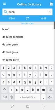 Collins Vietnamese<>Spanish Dictionary apk screenshot