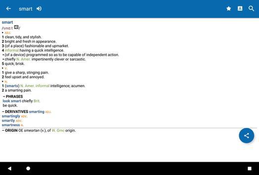 Concise Oxford English Dictionary apk screenshot