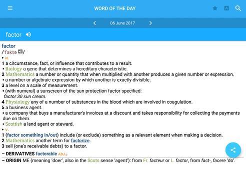 concise oxford english dictionary thesaurus apk screenshot