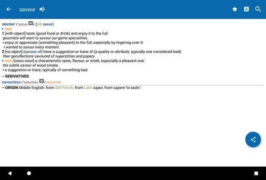 Oxford Dictionary of English & Thesaurus apk screenshot