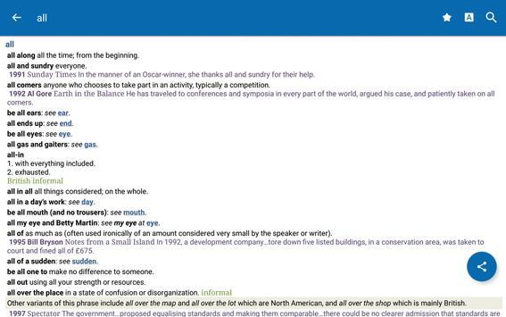 Oxford Dictionary of Idioms screenshot 10